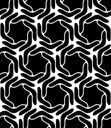 abstract black: Vector Abstract Seamless Oriental Pattern Illustration