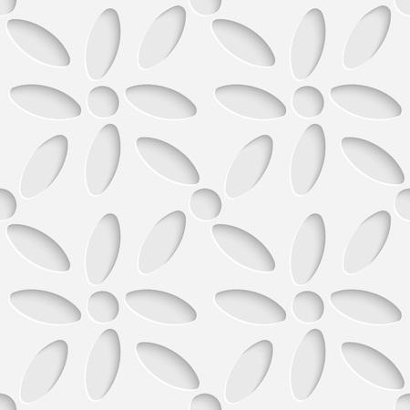 3d flower: 3d Vector Seamless Flower Background Illustration