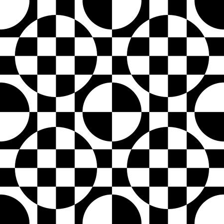 patron de circulos: Vector Abstract Seamless Circles Pattern Vectores