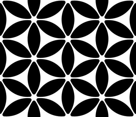 flower structure: Vector Monochrome Seamless Flower Pattern