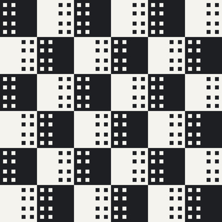 black art: Abstract Square Pattern. Vector Seamless Black and White Background
