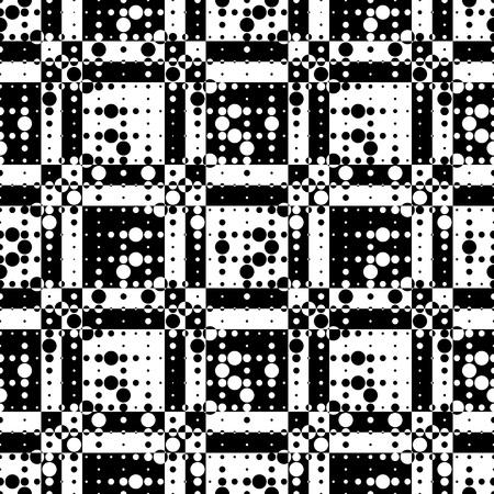 black art: Abstract Pixel Pattern. Vector Seamless Geometric Wallpaper. Regular Monochrome Background Illustration