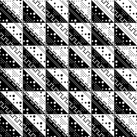 trend: Seamless Triangle Background. Vector Monochrome Pattern