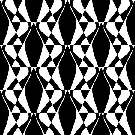 유행: 원활한 다 배경입니다. 벡터 흑백 기하학적 패턴 일러스트