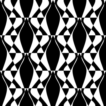 trend: Seamless Damask Background. Vector Monochrome Geometric Pattern