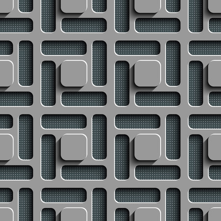 gray pattern: Seamless Square Pattern. Vector Background. Gray Regular Texture