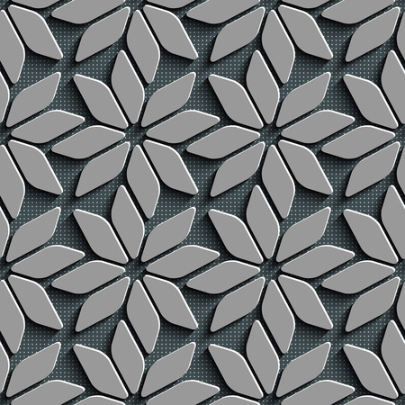 star pattern: Seamless Star Pattern. Vector Background. Gray Regular Texture