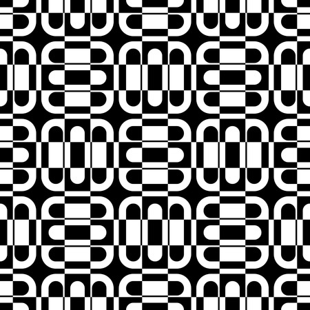 regular: Seamless Square Pattern. Black and White Regular Texture