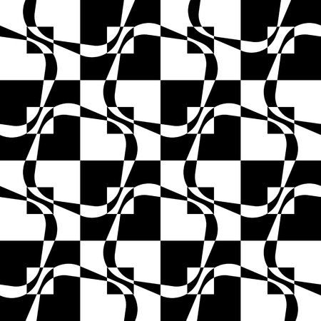 square background: Seamless Square Background. Vector Monochrome Pattern