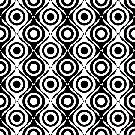 oriental vector: Seamless Oriental Ornament. Vector Ring Pattern. Abstract Monochrome Background