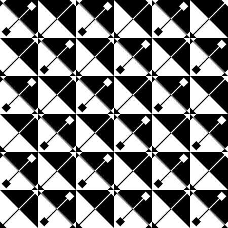 regular: Seamless Triangle Pattern. Abstract Monochrome Background. Vector Regular Texture Illustration
