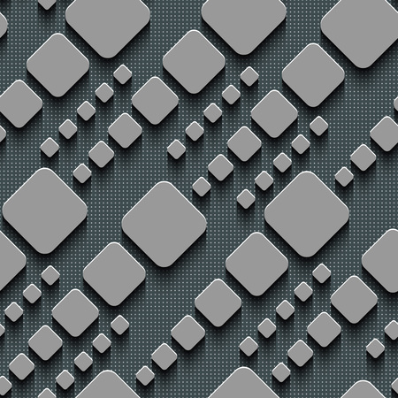 regular: Seamless Square Pattern. Vector Background. Gray Regular Texture