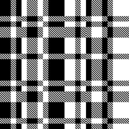 blanco negro: Patrón inconsútil del tartán. Vector y Negro Fondo blanco Vectores