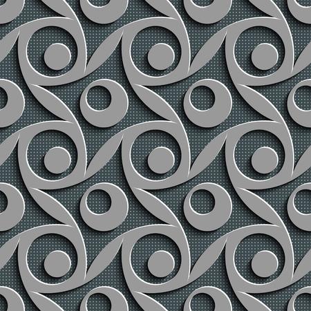 rhombus: Seamless Rhombus and Circle Pattern. Vector Gray Regular Texture Illustration