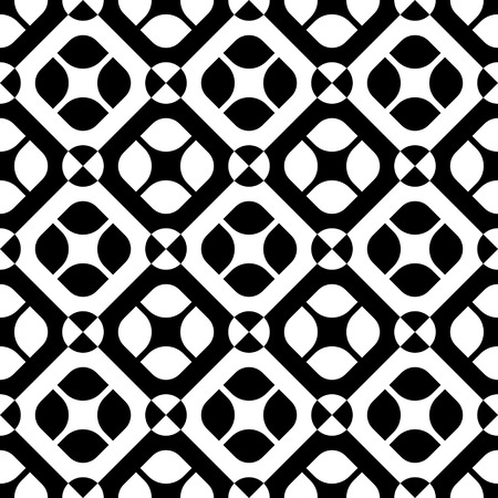 black background abstract: Seamless Square Pattern. Abstract Black and White Background