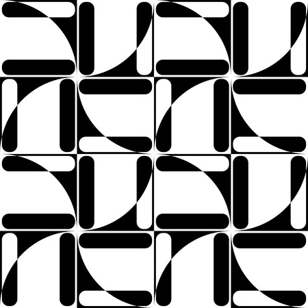 black background abstract: Seamless Square Pattern. Abstract Black and White Background. Vector Regular Texture