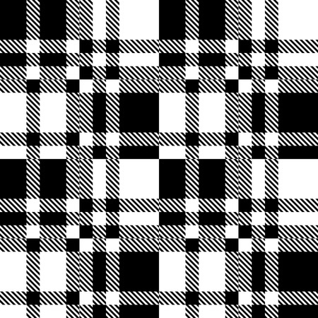 checkered: Seamless Checkered Pattern. Vector Geometric Background. Regular Black and White Texture Illustration