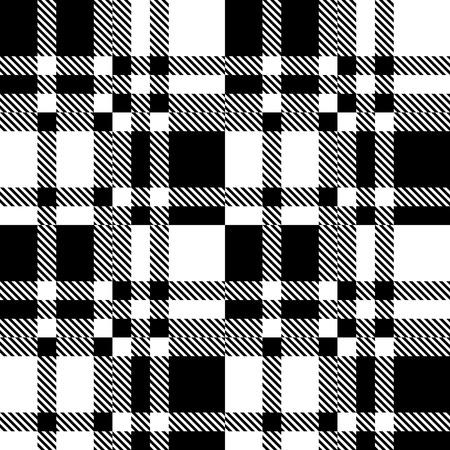 cuadros blanco y negro: Sin fisuras patrón a cuadros. Vector Fondo geométrico. Regular Negro y blanco Textura