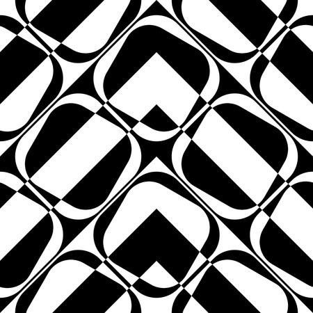 stripe pattern: Seamless Square and Stripe Pattern. Abstract Monochrome Background. Vector Regular Texture Illustration
