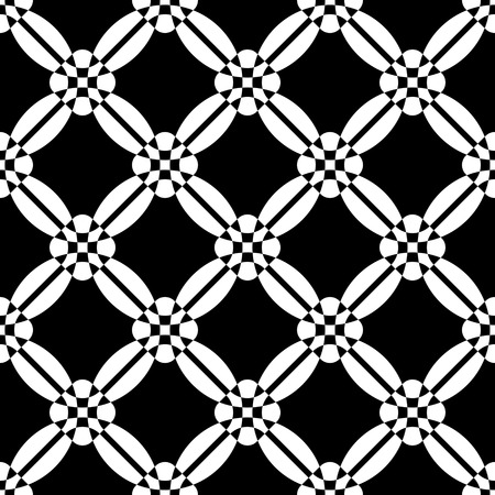normal: Seamless Grid Pattern. Vector Geometric Background. Regular Black and White Texture Illustration