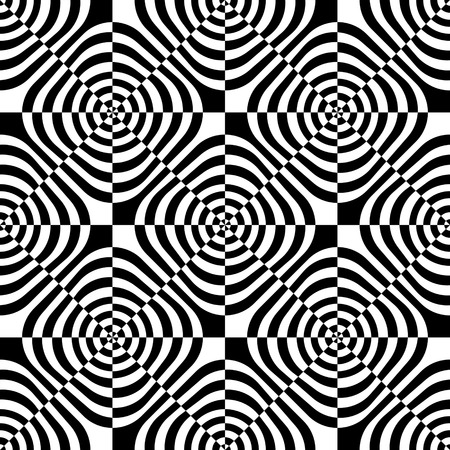 optical: Seamless Square Pattern. Abstract Monochrome Background. Vector Regular Texture Illustration