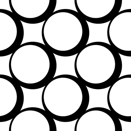 black circle: Seamless Circle Pattern. Abstract Black and White Background. Vector Regular Texture