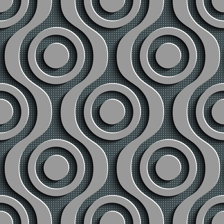 seamless damask: Seamless Damask Pattern. Vector Circle Background. Gray Regular Texture Illustration