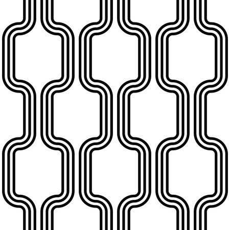 retro pattern: Seamless Vertical Stripe Pattern. Vector Black and White Background