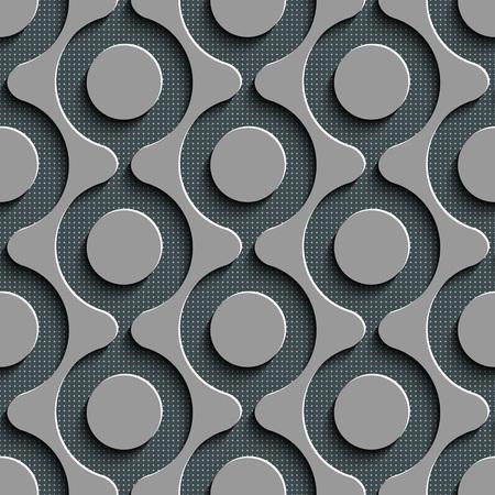 mesh: Seamless Damask Pattern. Vector Circle Background. Gray Regular Texture Illustration