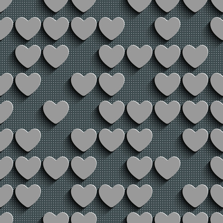 heart background: Seamless Heart Pattern. Abstract Gray Background. Vector Regular Texture