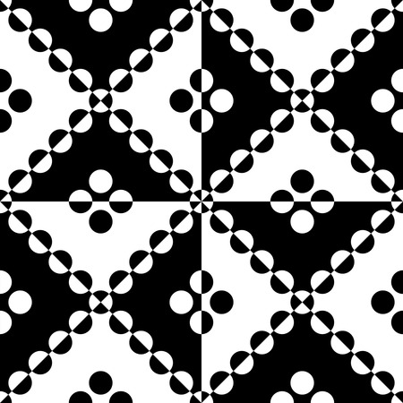 circle pattern: Seamless Circle and Triangle Pattern. Abstract Black and White Background Illustration