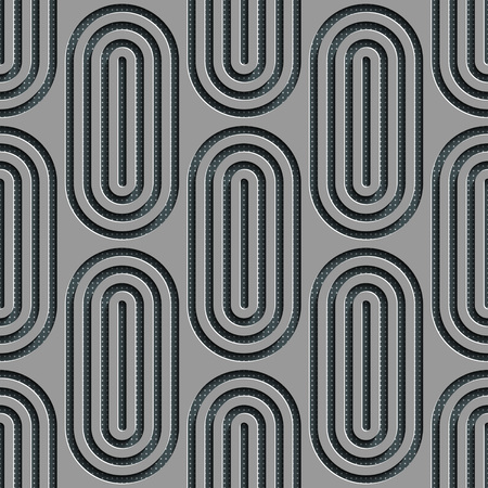 ellipse: Seamless Ellipse Pattern. Vector Gray Background