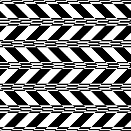 Seamless ZigZag Pattern. Abstract  Black and White Background. Vector Regular Texture Illustration
