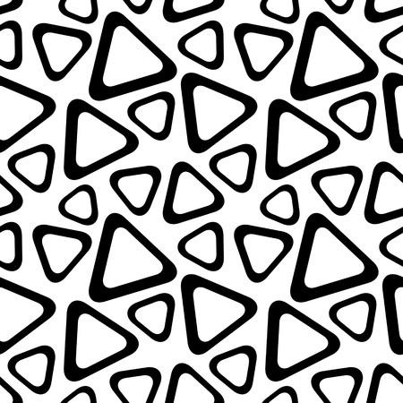 regular: Seamless Triangle Pattern. Abstract Monochrome Background. Vector Regular Texture Illustration