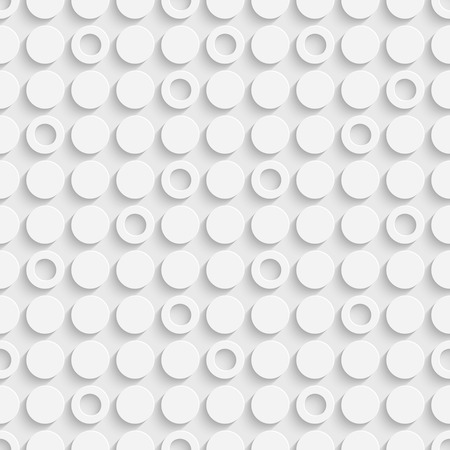 minimal: Seamless Circle and Ring Pattern. Vector Soft Background. Regular White Texture
