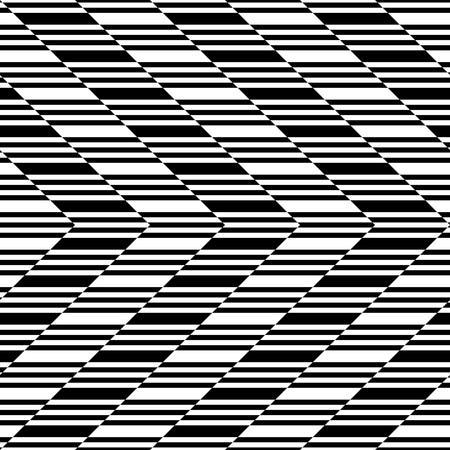 stripe pattern: Seamless Stripe Pattern. Vector Black and White Texture Illustration