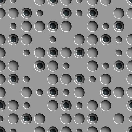 volume: Seamless Circle Pattern. Vector Gray Regular Texture Illustration
