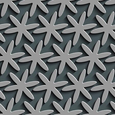 Seamless Flower Pattern. Vector Background 向量圖像