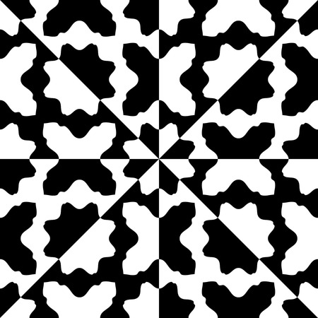 black background abstract: Seamless Oriental Ornament. Abstract Black and White Background. Vector Geometric Pattern