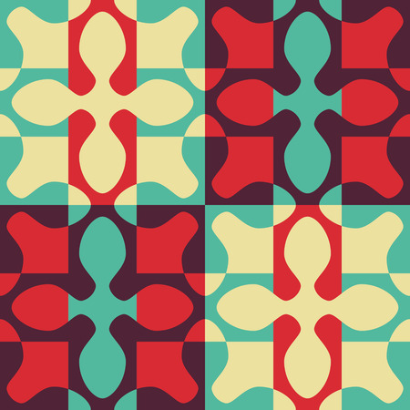 oriental ornament: Seamless Oriental Ornament. Abstract Colorful Background. Vector Geometric Pattern Illustration