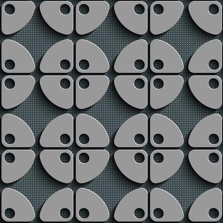 regular: Seamless Circle Pattern. Gray Regular Texture