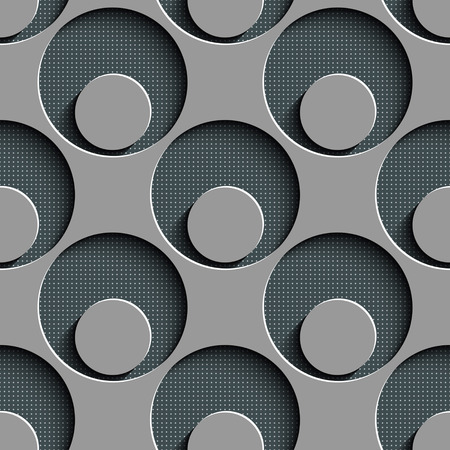 seamless damask: Seamless Damask Pattern. Circle Background. Gray Regular Texture