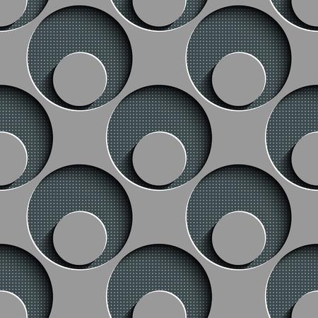 black damask: Seamless Damask Pattern. Circle Background. Gray Regular Texture