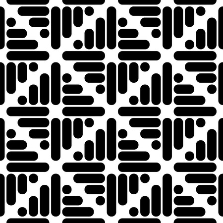 monochrome: Seamless Square and Stripe Pattern. Abstract Monochrome Background. Regular Texture