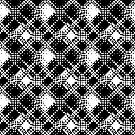 abstract seamless: Seamless Dot Pattern. Abstract Black and White Background. Regular Texture