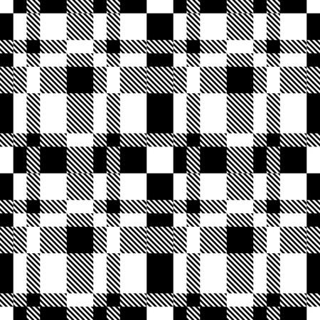 Seamless tartan. Fond noir et blanc Vecteurs