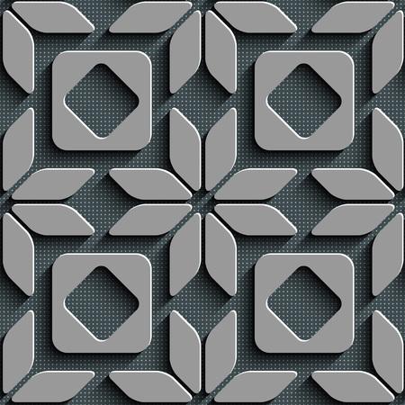 industria textil: Sin fisuras patr�n de la estrella y de la plaza. Fondo gris. Vectores