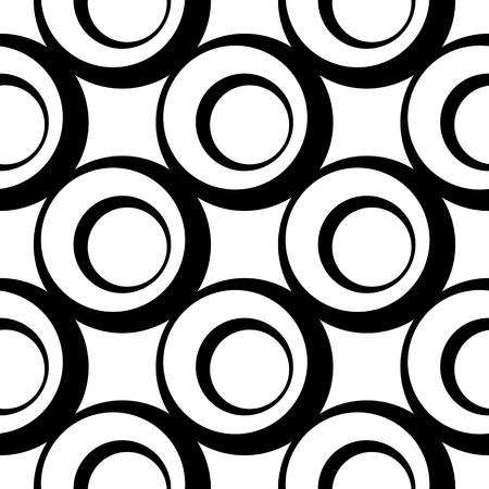 retro wallpaper: Seamless Circle Pattern. Abstract Black and White Background. Regular Texture