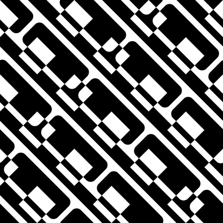normal: Seamless Geometric Pattern. Vector Black and White Texture
