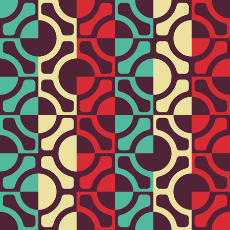 regular: Seamless Grid Pattern. Abstract Colorful Background. Vector Regular Texture Illustration